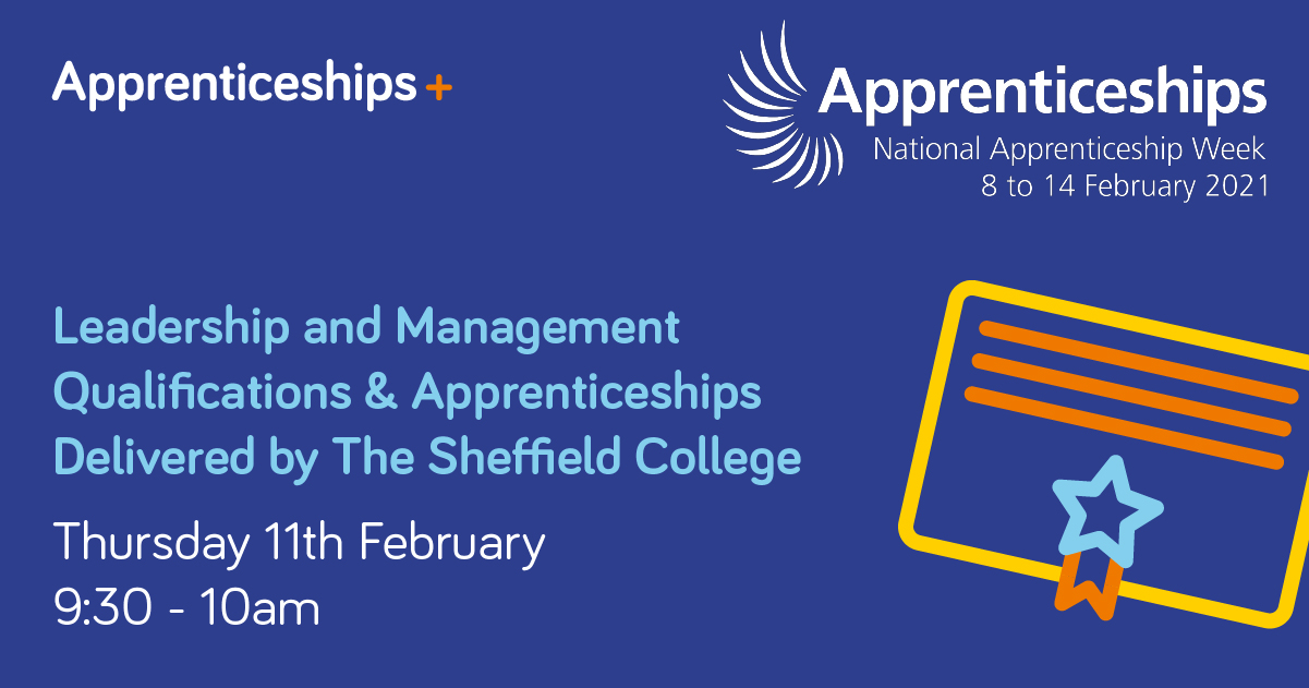 Leadership & Management Qualifications/Apprenticeships delivered by The Sheffield College image